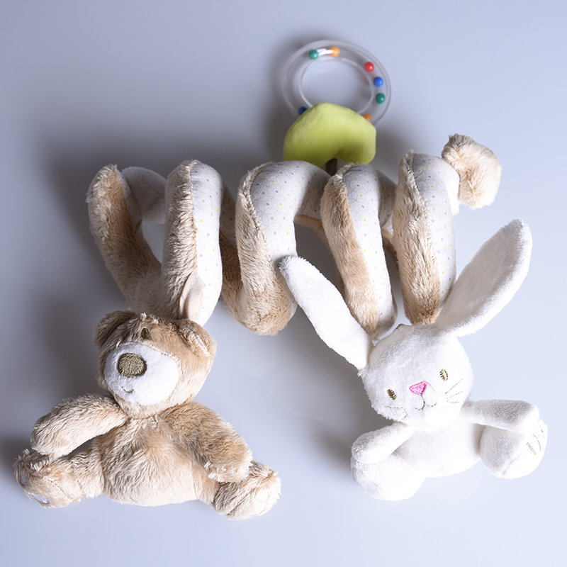 infant toys baby crib revolves bear rabbit around the bed stroller playing toy car lathe hanging baby rattles mobile brinquedos
