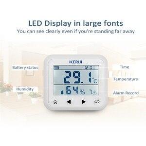Image 4 - Беспроводной светодиодный дисплей KERUI с регулируемой температурой и влажностью, детектор датчика, защищает личную безопасность и личность