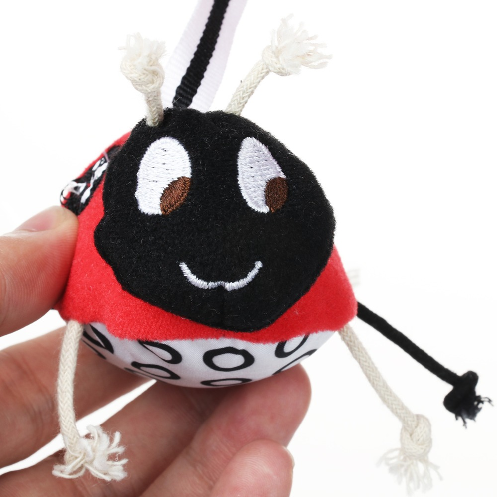 Mamas Papas Baby Bed Bell Toy Cotton Stroller Twine Hanging Toy Rattle Beetle Plush Safety Mirror Tape Music Hanging Baby Toys