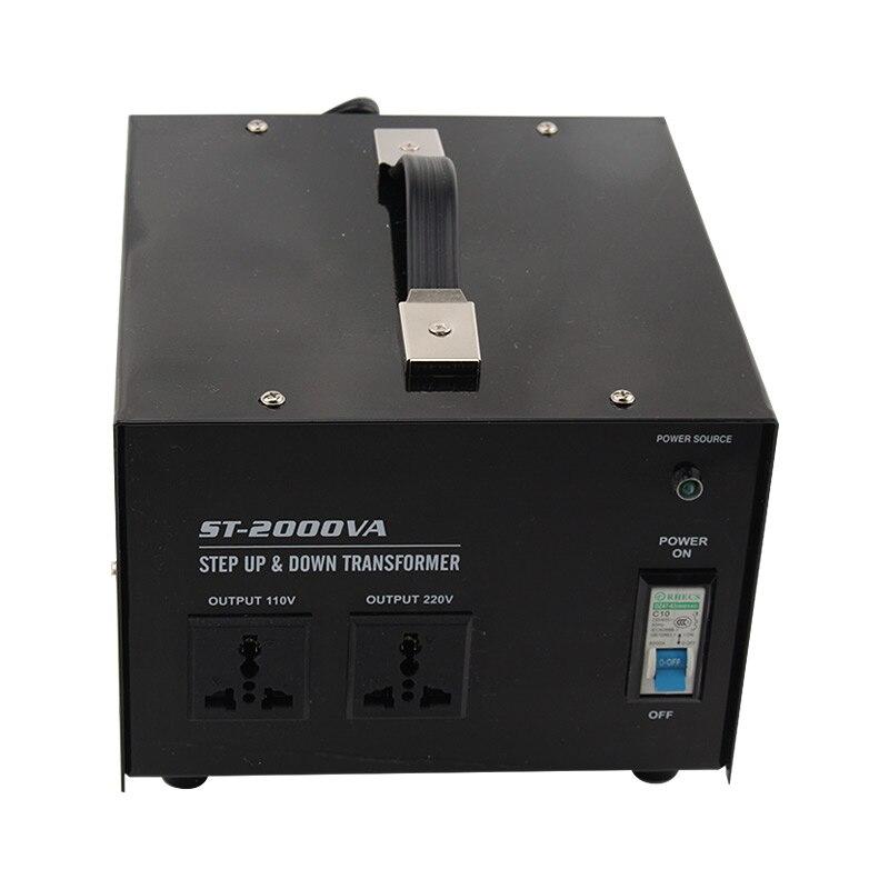 2000 w usage domestique 220 v-110 v, 110-220 v transformateur haut et bas pour presse-agrumes, réfrigérateur, micro-ondes, imprimante