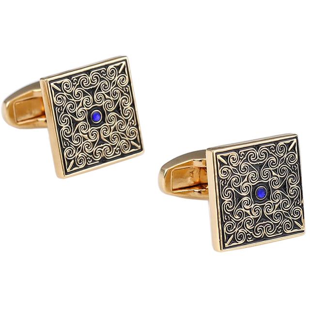 Vagula Rose Cufflinks High Brass Gemelos French Shirt Cuff Links Enamel Cuffs Jewelry Ship 306