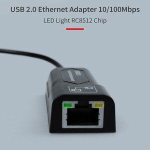 Image 4 - GOOJODOQ USB Ethernet adaptörü USB 2.0 ağ kartı RJ45 Lan Win7/Win8/Win10 dizüstü Ethernet USB