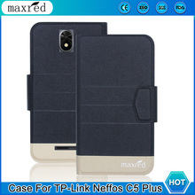 5 Colors ! TP-Link Neffos C5 Plus Case 2019 High Quality Flip Ultra-thin Luxury Leather Protective Case Cover Phone чехол neffos c5 protective case