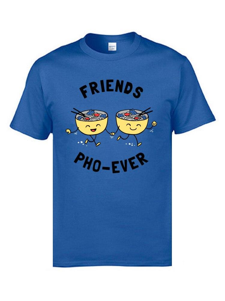 Friends Pho Ever 5639 Short Sleeve Tops T Shirt Round Neck Cotton Fabric Men T Shirts Slim Fit T-shirts 2018 Hot Sale Friends Pho Ever 5639 blue
