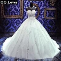 QQ Lover 2018 Новый Сияющий блестками свадебное платье на заказ свадебное платье плюс Размеры Vestido De Noiva