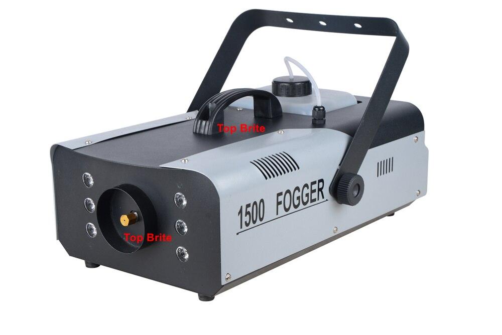 Cores LED DMX512 2.3L Capacidade De Fumaça