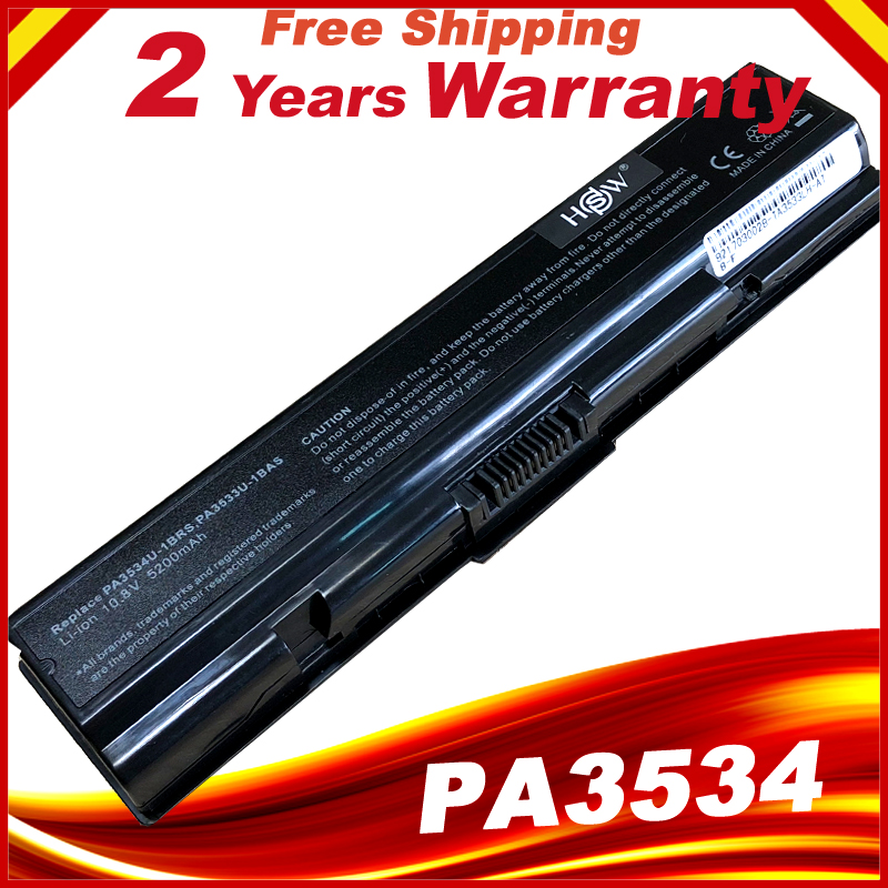 HSW Laptop Battery For Toshiba Pa3534 Pa3534u PA3534U-1BAS PA3534U-1BRS Satellite A300 A500 L200 L300 L500 L550 L555 Bateria