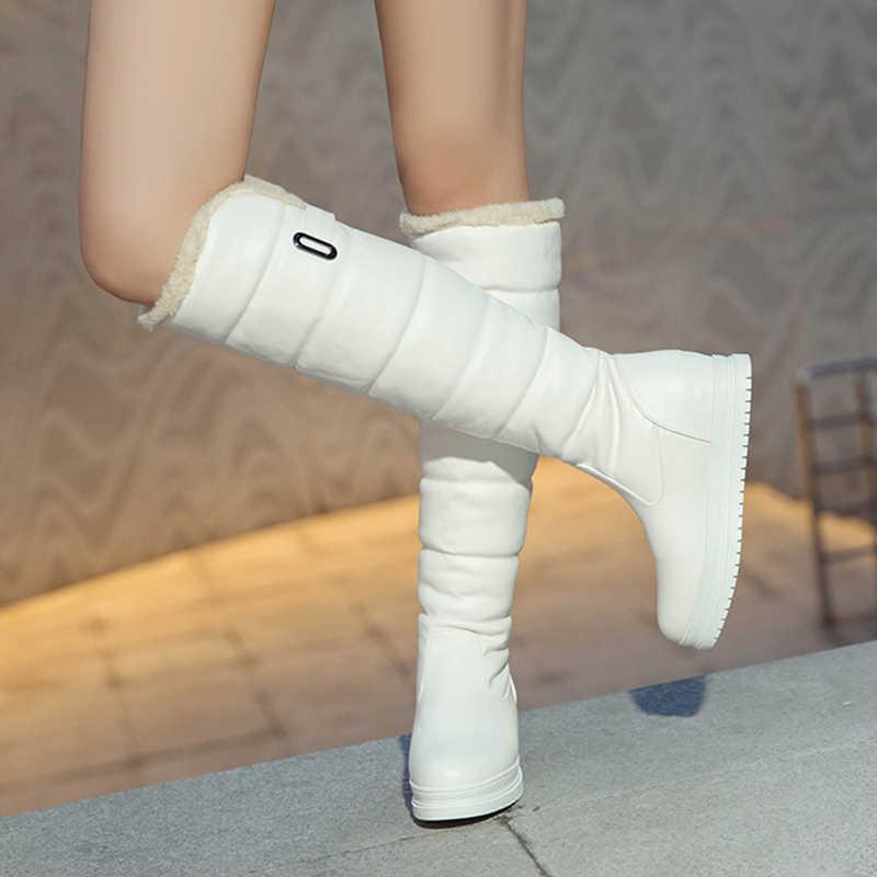 S. Romance/зимние ботинки 2018 г. Женские ботинки, размеры 34-43 Женская обувь для деловой женщины на каблуке с круглым носком женские зимние ботинки черный, белый цвет SB250