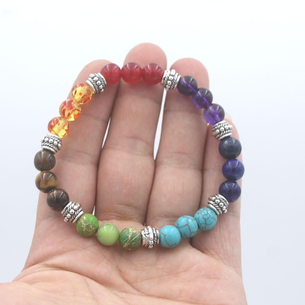 7 Chakra mala bracelet for women jewelry wholesale(China)