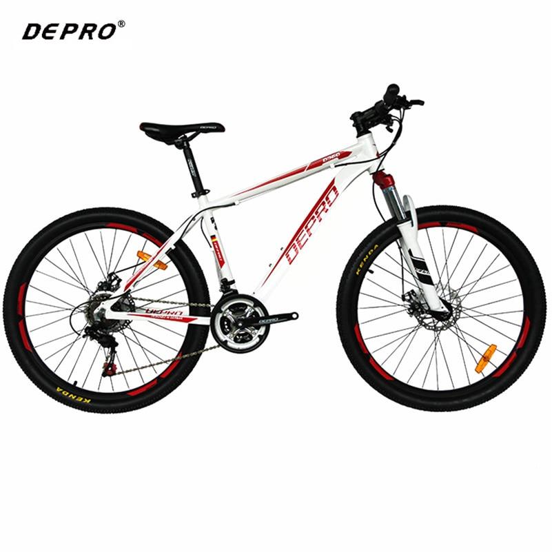 DEPRO 26-inch Auminum 21-speed Mountain Bike Ultra-light 17-inch Frame Suspension Fork For Shimano Brake Gear Shift Sets