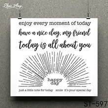ZhuoAng This is your special day Clear Stamp for Scrapbooking Rubber Seal Paper Craft Stamps Card Making