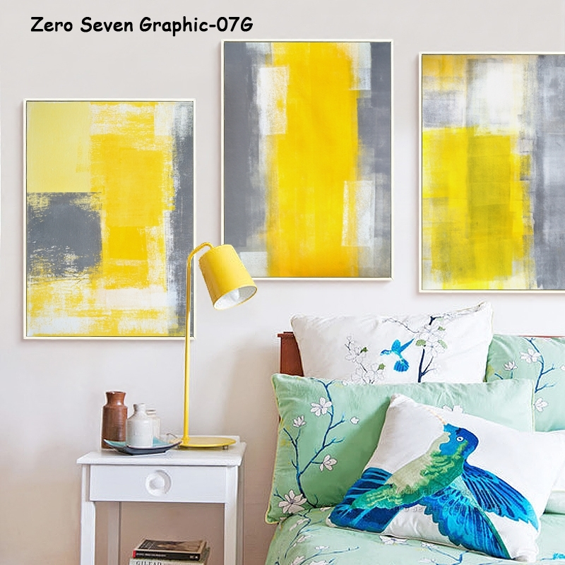 Us 2 81 48 Off 07g Yellow White Gray Abstract Painting A4 A3 Canvas Art Print Poster Picture Office Wall Lounge Decorative Mural In