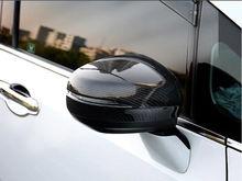 2 * углерода Волокно сбоку Зеркала заднего вида отделкой крышки для Honda Odyssey 2015-2018