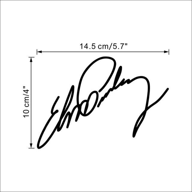Elvis Presley Small Sign Signature Home Decor Vinyl Wall Sticker Wallpaper Window Decals Elvis17n
