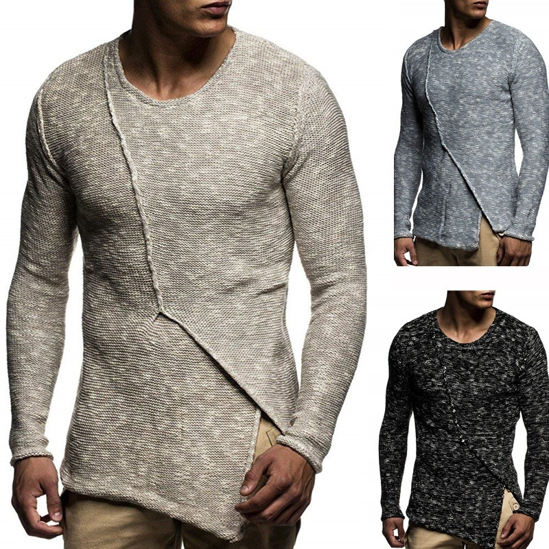 ZOGAA Men's Sweater Knitted Shawl Turtleneck Sweater Pullover Winter Hip Hop Streetwear Long Sleeve High Quality Man's Sweaters