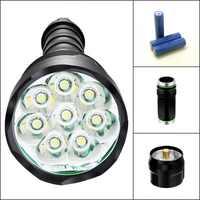 Tinhofire CX8 12000 люмен 8T6 8x T6 5-режимный светодиодный фонарик 8xT6 фонарь 2/3 18650 батарея