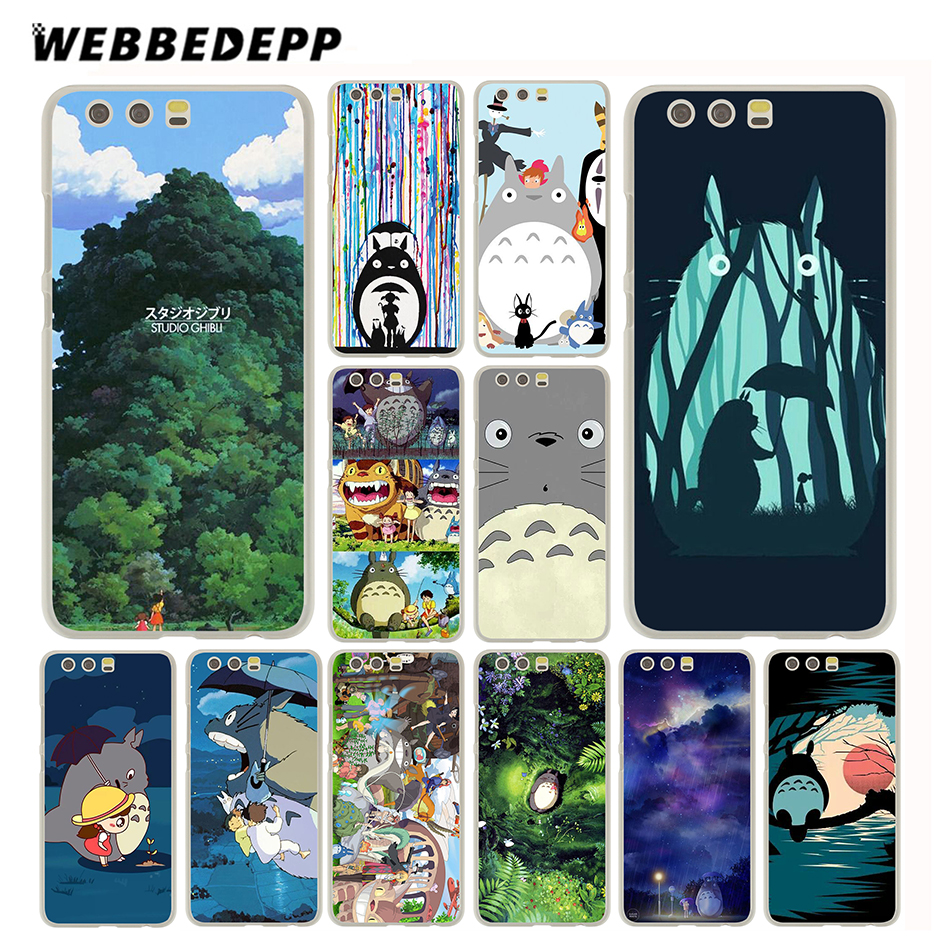 WEBBEDEPP My Neighbor Totoro Case for Huawei P20 P10 P9 P8 P7 P smart Lite Mini Plus Pro & Nova 2 Plus 2s 2i 2 Lite ...