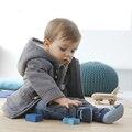 Botão 2017 Moda Inverno Chifre Espessamento Criança Outerwear Casaco Masculino Criança Outerwear Menino Jaqueta de Varejo