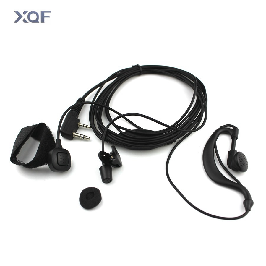 Ear Hanging Headphone Finger PTT Earpiece With Microphone TK Plug Headset For Kenwood Radio BAOFENG UV-5R UV-5RE Plus UV-82 GT-3
