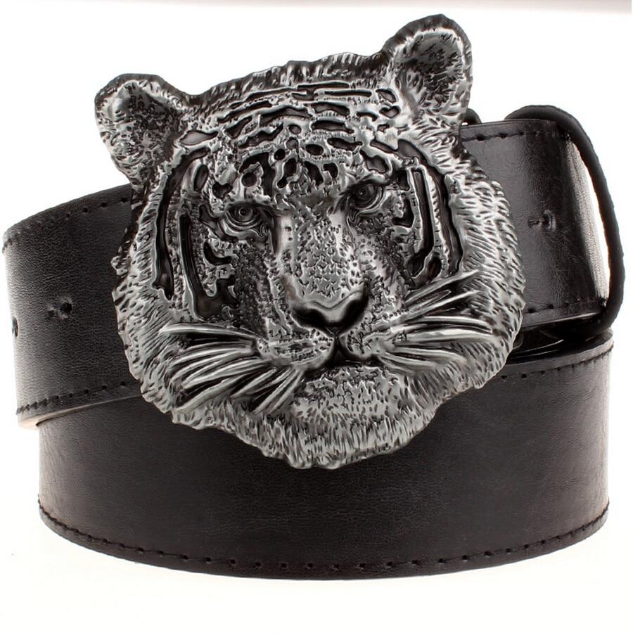 Wilde Persönlichkeit Männer Gürtel Tigerkopf Muster Metall - Bekleidungszubehör - Foto 3