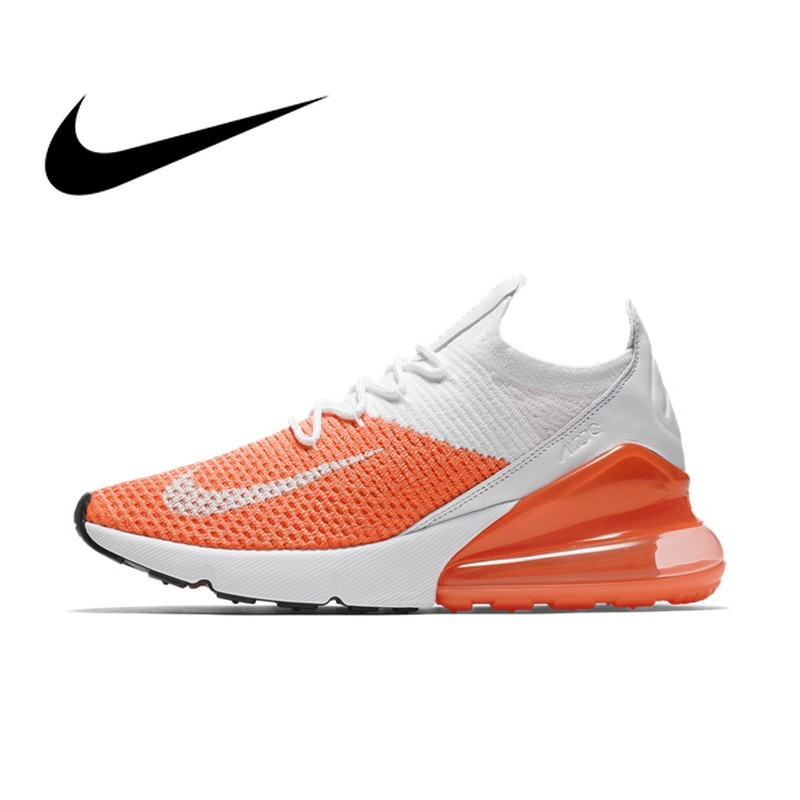 Original Authentic Nike Air Max 270 Flyknit Womens Running Shoes Breathable Durable Good Quality Sport Outdoor Sneakers AH6803Original Authentic Nike Air Max 270 Flyknit Womens Running Shoes Breathable Durable Good Quality Sport Outdoor Sneakers AH6803