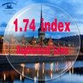 1.74 Высокий Индекс Линзы Индивидуальные Глаз Линзы Близорукость Линзы Мужчины Женщины Рецепт Объектив 75 мм