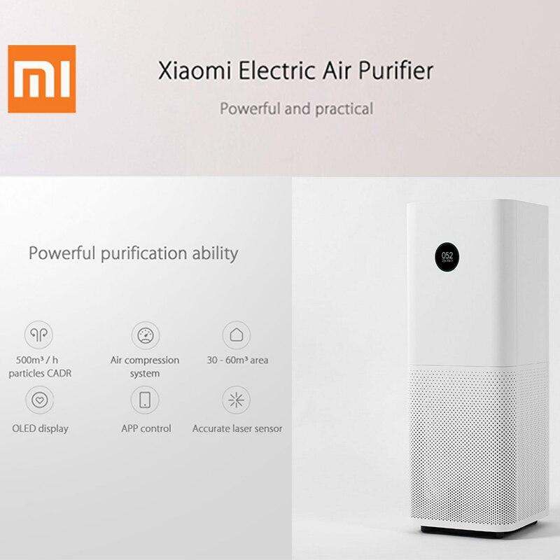 D'origine Xiaomi 220 v Purificateur D'air Pro Écran OLED Sans Fil Smartphone APP Contrôle Accueil Air De Nettoyage Intelligent Air Purificateurs