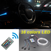 Car Inside Tuning Cool Strip Refit Light Optic Fiber Band