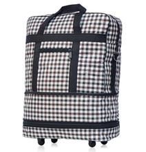 ZIRANYU Luftfahrt aufgegebene gepäckstück, große kapazität Wasserdichte nylon Gepäck, klapp koffer überprüft box caster flugzeug, Reisetaschen