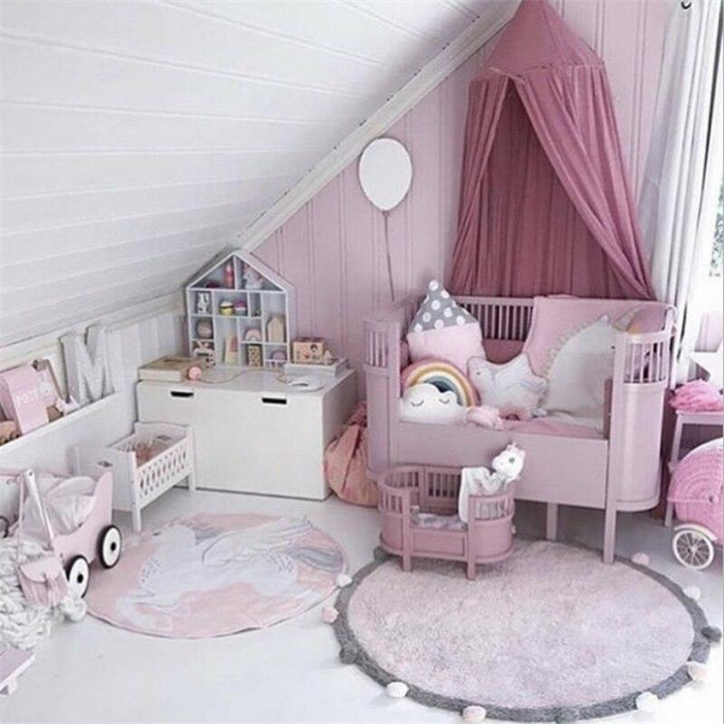 120 CM enfants jouent tente tapis bébé jeux ronds tapis tapis tapis coton Hairball ramper couverture tapis de sol enfants chambre décor