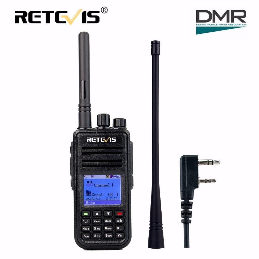 Retevis RT3 DMR Numérique Radio (GPS) talkie Walkie UHF (ou VHF) 5 W Crypté 2 Way Radio Amador Hf Transceiver Ham Radio Station