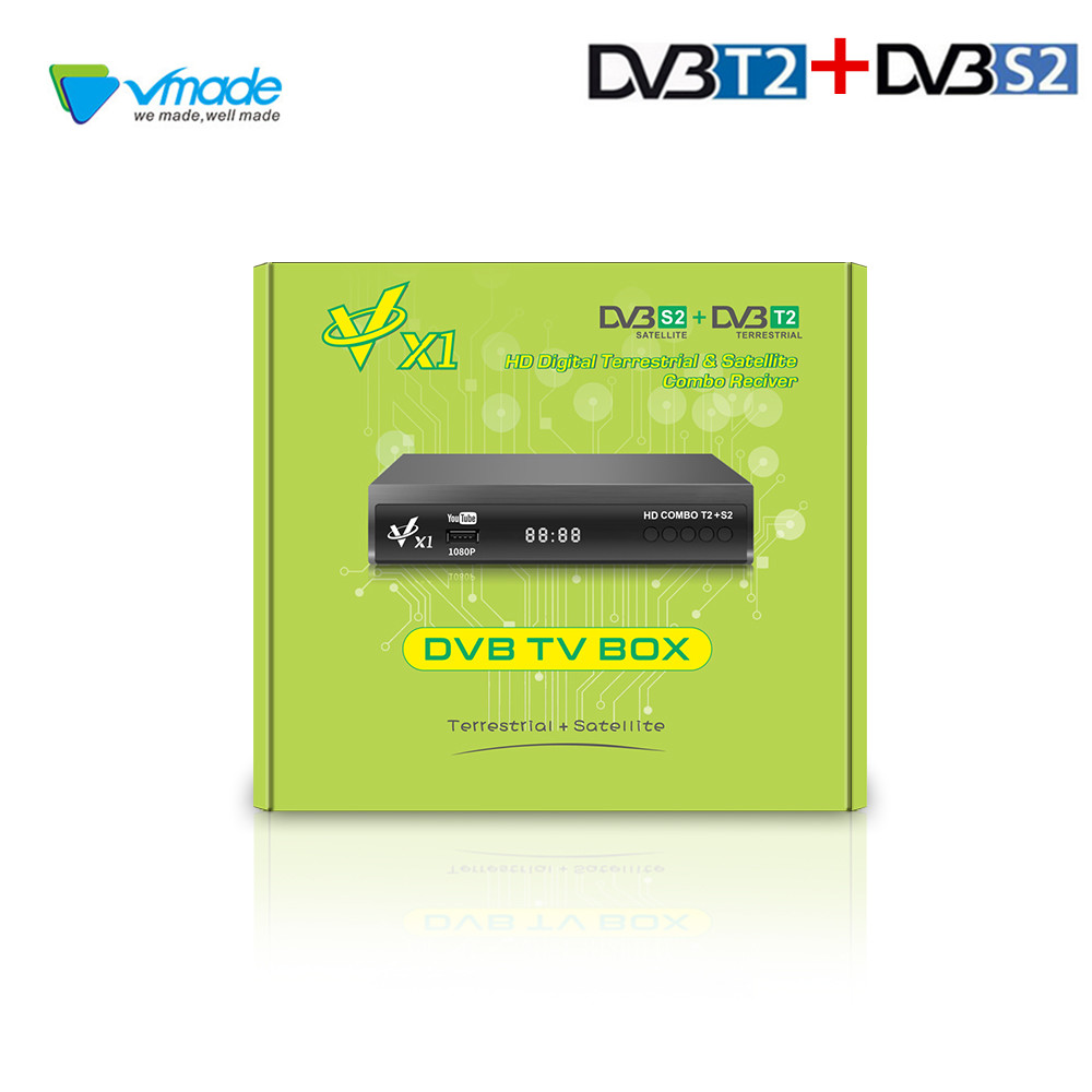 Newest DVB T2 DVB S2 Terrestrial Satellite Receiver Support AC3 Biss CCCAM Youtube COMBO 1080P Full