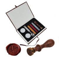 Classic Vintage Alphabet A Z Optional Wax Badge Seal Stamp W Wax Kit Set Letter Wax