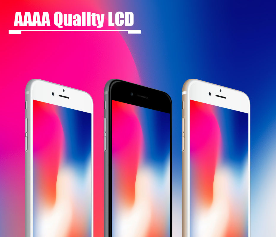 2019 100% AAAA 3D Touch Screen Original LCD For iPhone 7 6 6s 5s 5 LCD Display Digitizer No Dead Pixel Touch Replacement Screen