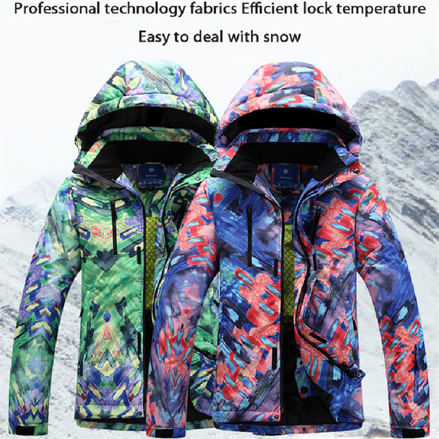 a1683c262 Winter Snowboard Jacket Men Waterproof Windproof Ski Jacket Climbing ...
