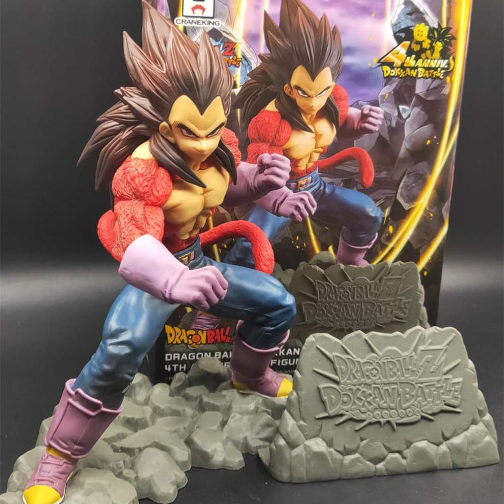 Dragon Ball Z Vegeta PVC Action Figures Super Saiyan 4 Anime Toy Dragon Ball GT Dokkan Battle 4th Anniversary DBZ Figurine Toys
