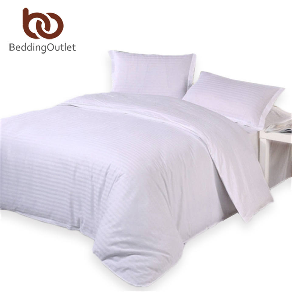 BeddingOutlet Sky Blue Bedding Set Sateen Striped Bed Linen For Home Hotel  Quality Cotton Bedclothes Twin Queen King 4pcs In Bedding Sets From Home U0026  Garden ...