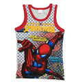 De alta Qualidade Crianças Dos Desenhos Animados de Impressão T-shirt 100% Algodão Meninos Tee encabeça Roupas Para Crianças SpiderMan Camiseta Para 5-8 Anos de Menino C