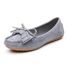 COZULMA Women Non-slip Fringe Casual Shoes Butterfly-knot Flock Fashion Sneakers Female Slip-on Boat Size 35-40