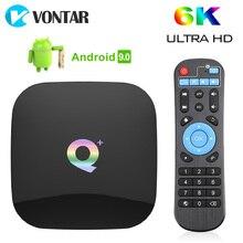 Android 9.0 TV, pudełko Q Plus 4GB 64GB 32GB Smart TV Box TV, pudełko Allwinner H6 czterordzeniowy 6K H.265 2.4GHz Wifi Android 9 dekoder 2GB 16GB