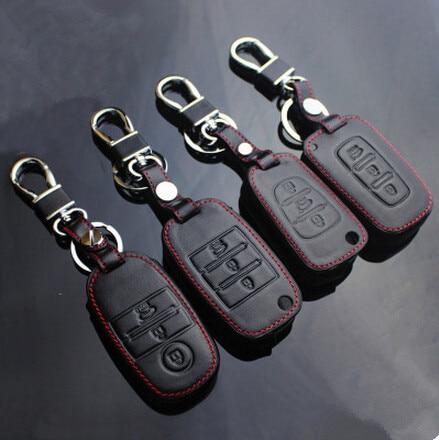 Chaveiro de couro Caso Chave para Kia Rio K2 K3 K5 K4 Alma Forte Cerato Sportage R SORENTO OPTIMA Ceed Carens Mohave Borrego