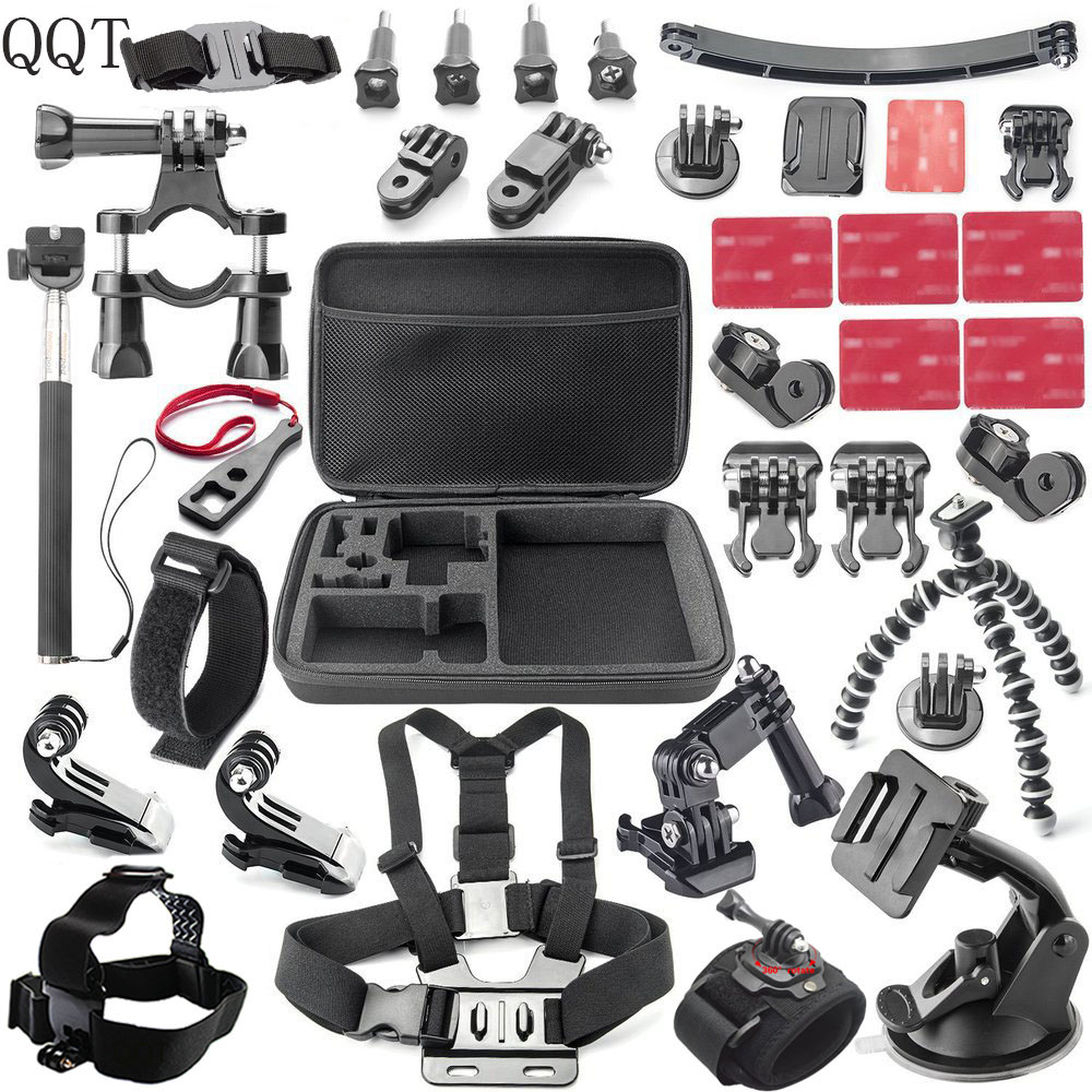 QQT for Gopro accessories tripod bike mount for steering helmet bracket for Go pro hero 6 5 4 3+ 3 SJCAM SJ4000 SJ5000 foleto camera adapter gp03 tripod accessory tripod mount bracket accessories for gopro hero 5 4 3 3 2 1 sj4000 sj5000 sj6000