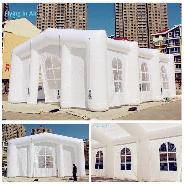 Outdoor Angepasst Werbung Struktur Weiss Aufblasbare Zelt Fur