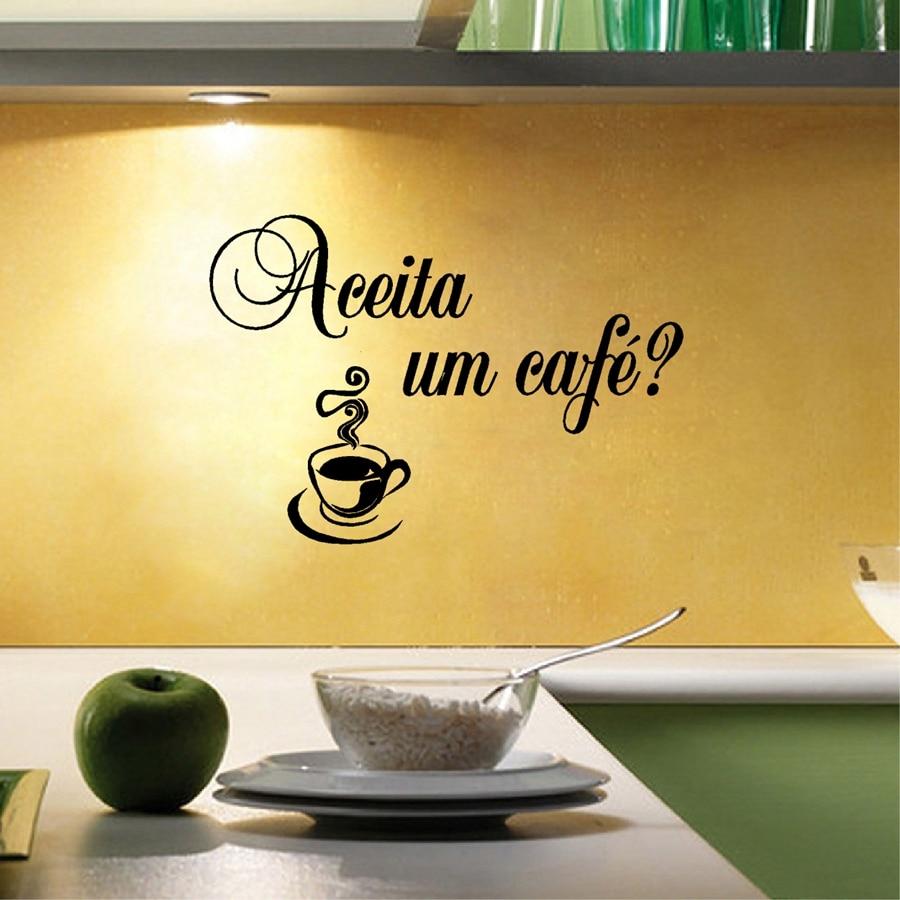 클래식 사랑 요리 포르투갈어 부엌 비닐 벽 스티커 Amo Eu Cozinhar 벽 데칼 홈 주방 / 코프 가게 장식
