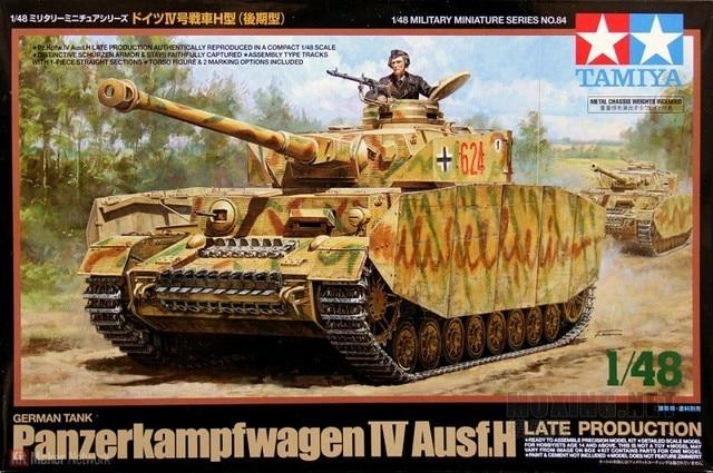 Tamiya 32584 1/48 Scale Model Tank WWII German Panzer Panzerkampfwagen IV Ausf.H