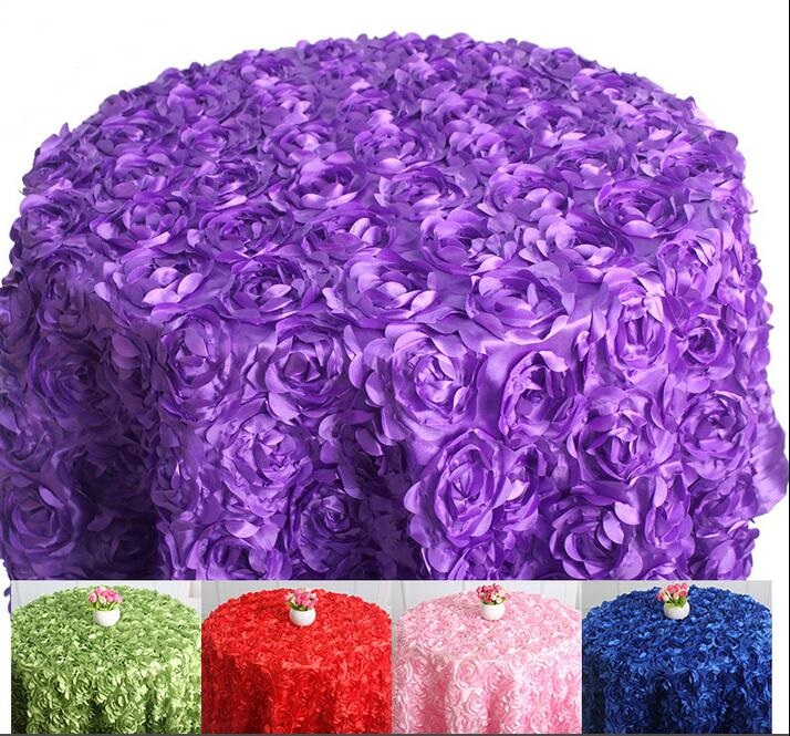 US 45 0 Table Cloth Table Cover Round For Banquet Wedding Party Decoration Tables Satin Table Clothing Wedding Tablecloth Home WT027 In Tablecloths