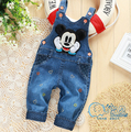 New Autumn Mickey Solid Kids/Children Overalls Jeans Pants Cute Toddler Trousers/Pantalones/Pantaloni/Roupas For Baby/Girls/Boys