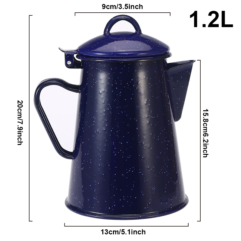 0 8L 1 2L 1 8L 2 4L Enamel Coffee Pot Hand Tea Enamel Kettle Induction Cooker Gas Stove Universal for Home Kitchen in Water Bottles from Home Garden