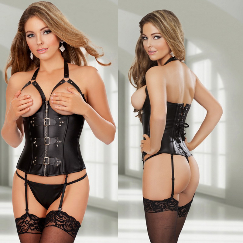 Open breast corset