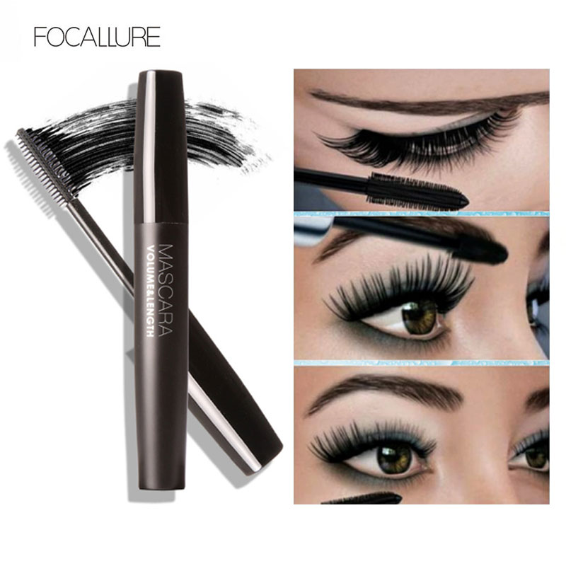 Professional Volume Curled Lashes Black Mascare Waterproof Curling Tick Eyelash Lengtheing Eye Makeup Mascara by Focallure